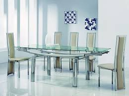 Glass Dining Table With 6 Chairs Glass Dining Table For 6 Visionexchange Co