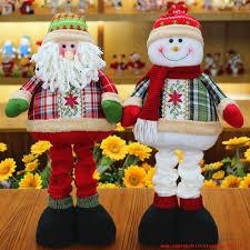 de noël qy802 retractable santa claus snowman