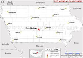 map usa iowa where is des moines iowa