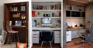 Small Apartment Design Idea Create A Home Office In A Closet - Closet home office design ideas