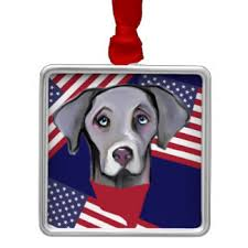 blue weimaraner ornaments keepsake ornaments zazzle