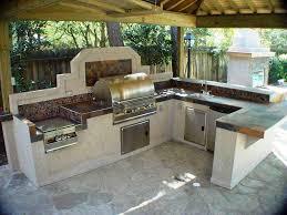 outdoor summer kitchen home design ideas