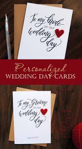 To My Bride On Our Wedding Day Card Best 25 Wedding Day Cards Ideas On Pinterest Wedding Cards Diy