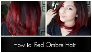 pictures of ombre hair on bob length haur how to red ombre hair youtube