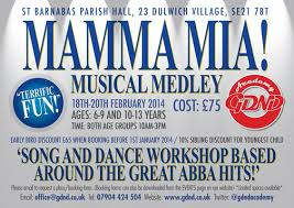 flyer design cost uk flyer design for mamma mia song and dance workshop based around the