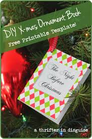 a thrifter in disguise free diy ornament printable tutorial