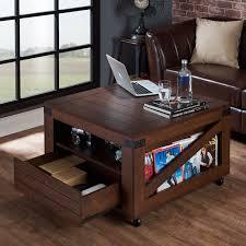 furniture of america crete vintage walnut coffee table furniture of america kala square vintage walnut coffee table free