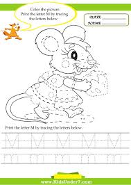 kids under 7 alphabet worksheets trace and print letter m
