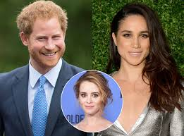 prince harry s girl friend the crown star claire foy weighs in on prince harry s actress