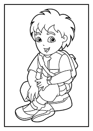 free printable diego coloring pages kids itgod
