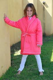 robe de chambre fille robe de chambre fille fushia etoile l orangerie