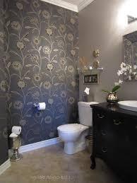 wallpaper designs for bathroom bathroom powder room ideas with wallpaper ideas with pale blue