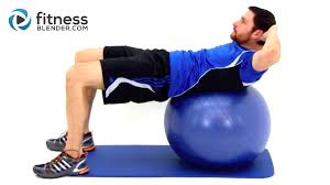 Sitting On A Medicine Ball At Desk Challenging Exercise Ball Ab Workout Physioball Workout For The
