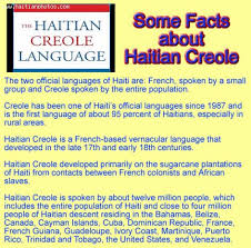 facts about haitian creole
