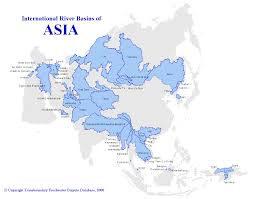 Asia Rivers Map by Map Water Basins Of Asia Waterwiki Net