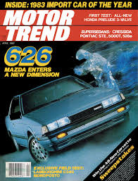 april 1983 motor trend mazda 626 import car of the year photo