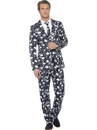 skeleton suit mens halloween fancy dress costume halloween