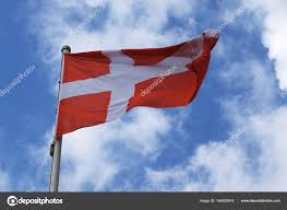 Blue And White Flag Cross Flag Of Denmark With A White Cross On A Red Background National