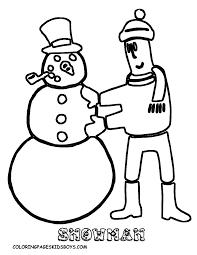 snowmen snowflakes coloring pages