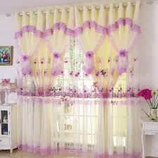 Purple Floral Curtains Purple Floral Princess Polyester Window Curtains For