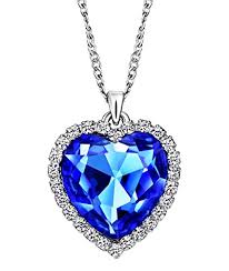 heart rhinestone necklace images Neoglory charm ocean titanic heart blue pendants necklace clear jpg