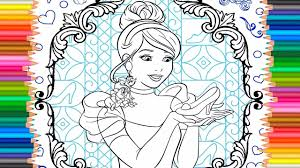 disney princess of cinderella coloring pages for kids learn