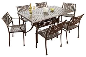 Cast Aluminium Outdoor Furniture by Sierra 7 Piece Outdoor Cast Aluminum Dining Set Contemporary