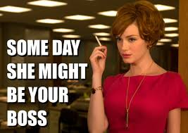 mad men meme she might be your boss on bingememe