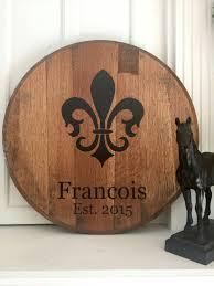 Fleur De Lis Gifts Personalized Kentucky Bourbon Barrel Head With Fleur De Lis