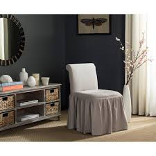 vanity chair with skirt ivy taupe linen vanity chair