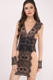 black lace dress black and dress lace dress black zipper dress bodycon