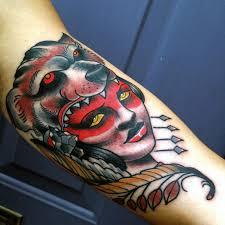 frank ready tattoos tattoos pin up woman with wolf headdress