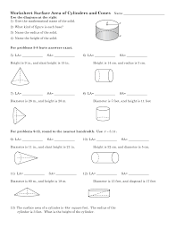 Surface Area And Volume Worksheets Grade 7 13 Best Images Of Surface Area Word Problems Worksheet 8th Grade