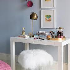 white framed art over kid desk design ideas