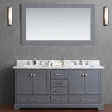 stufurhome 72 newport grey sink bathroom vanity with