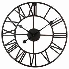 vintage 76 cm 50cm large wall clock wrought metal industrial iron