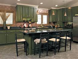 dark green kitchen cabinets interior design