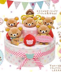 pre order rilakkuma store 7th anniversary birthday cake scene set