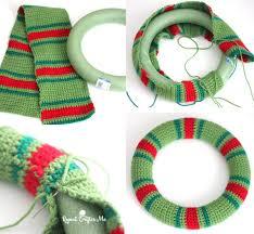 crochet christmas christmaswreath1 crochet wreath crochet christmas