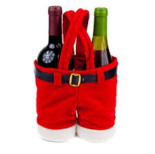 wine christmas gifts the santa wine holder is the gift bag for 2012