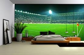 football stadium wallpaper mural 306ve football bedrooms images of