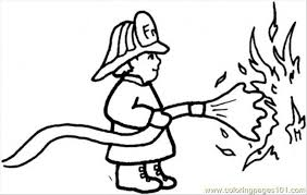 fireman outs fire coloring free profession coloring