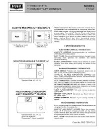 bryant air conditioner thermostat manual u2013 best air 2017