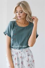 blouse ruffles ruffles buttons linen blouse modest bridesmaids dresses buy