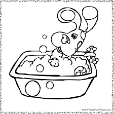blues clues bath coloring printables kids
