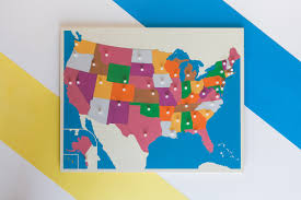 Map Puzzle Usa by Usa Puzzle Map Montessorium