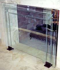 amazing glass fireplace screen suzannawinter com
