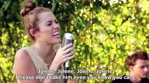 miley cyrus jolene backyard session hd lyrics in video