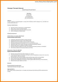 sample massage therapist resume massage therapist sample resume