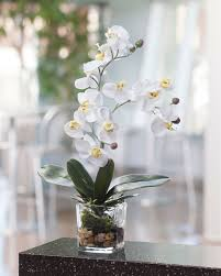 silk orchids lifelike phalaenopsis orchid artificial accent arrangement at